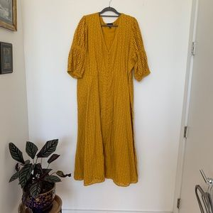 Eloquii Dresses - ELOQUII Yellow Eyelet Dress